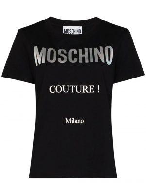 Hauts t-shirt à logo imprimé noir