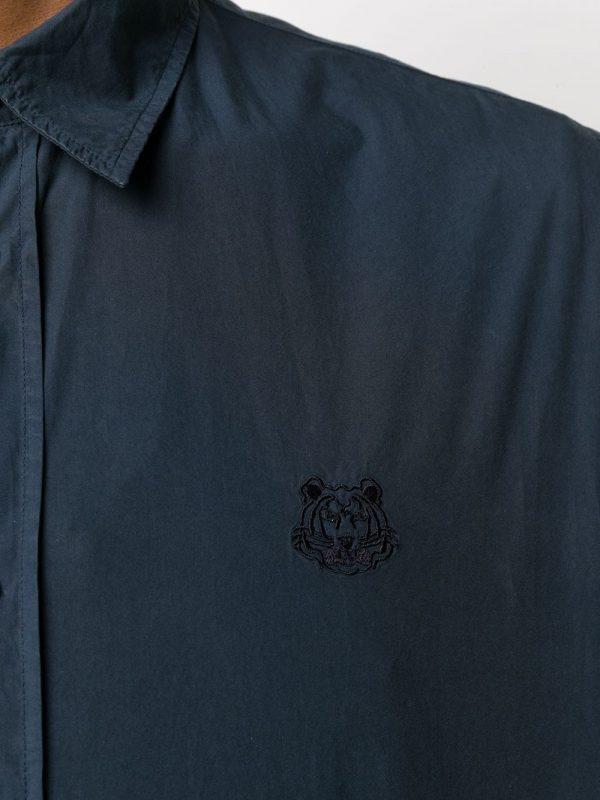 Chemises chemise à tigre brodé bleu