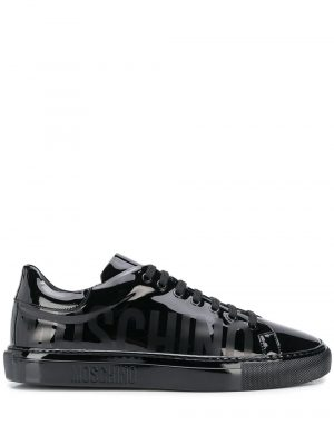 Baskets logo print high-shine sneakers
