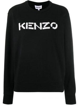 Kenzo femme sweat à logo imprimé noir
