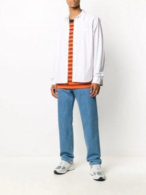 Chemises chemise à tigre brodé blanc