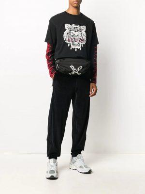 Kenzo t-shirt à logo tigre imprimé noir