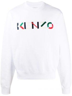 Kenzo sweat à logo brodé blanc