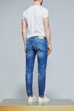 ACE Denim Jeans AD 01 Military Yellow Fluo
