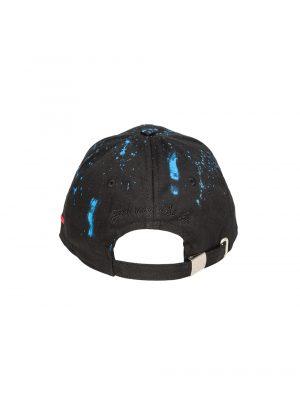 """Accessoires casquette """"the french touch"""" coton full black peinture bleue"""