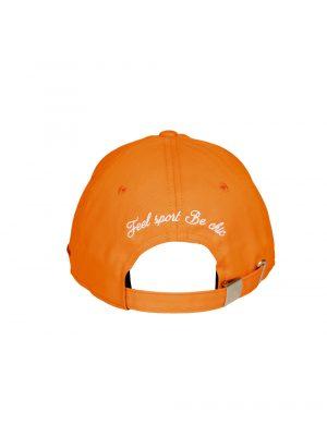 """Accessoires casquette coton """"champs Elysées"""" orange"""