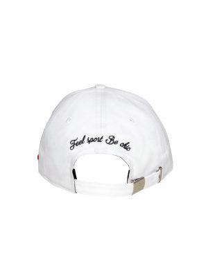 """Accessoires casquette coton """"champs Elysées"""" blanc"""