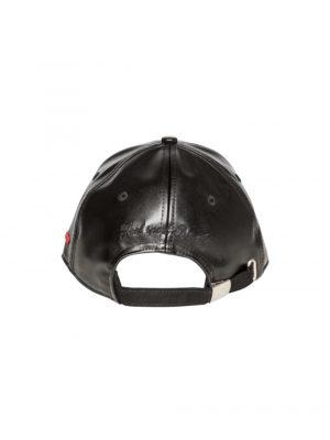 """Accessoires casquette smili cuir """"Nonza"""" noir"""