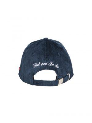 """Accessoires casquette velours côtelé """"Les Vignes"""" bleu"""