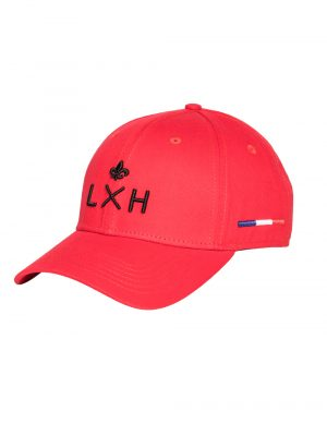 """Accessoires casquette coton """"champs Elysées"""" rouge"""
