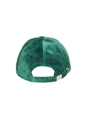 """Accessoires casquette velours de soie """"Auvergne"""" vert"""