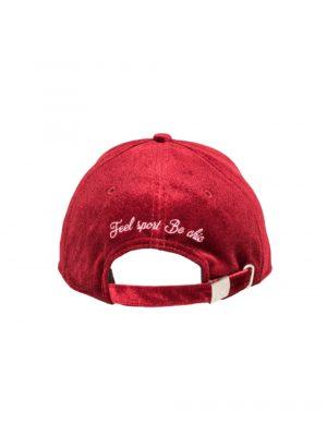 """Accessoires casquette velours de soie """"Auvergne"""" rouge"""