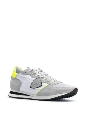 Baskets mondial low-top sneakers gris/jaune