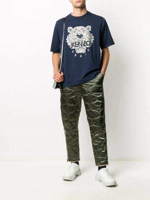 Kenzo t-shirt à motif brodé