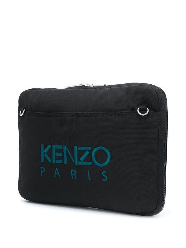 Kenzo mallette à motif tigre brodé