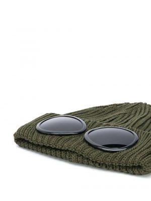 Accessoires bonnet à détail de lunettes vert