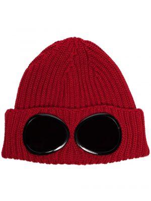 Accessoires bonnet à détail de lunettes rouge