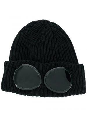 Accessoires bonnet à détail de lunettes noir