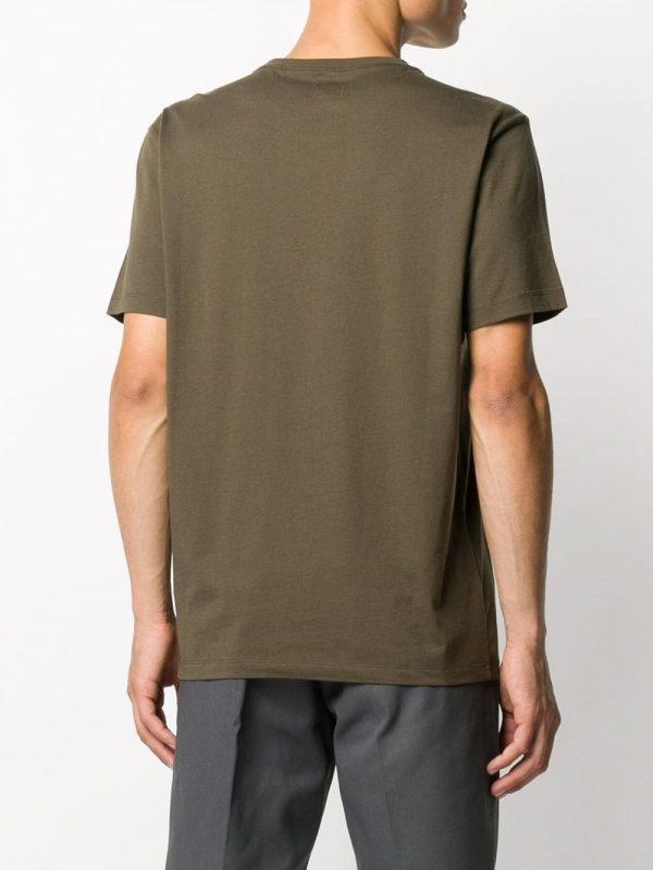 CP Company t-shirt à logo imprimé kaki