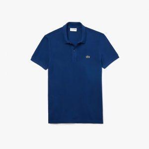 Lacoste Polo Lacoste slim fit en petit piqué uni bleu roi