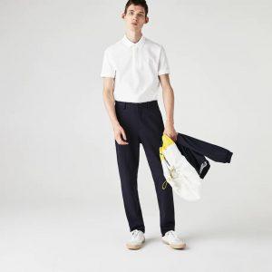 Lacoste Paris Polo regular fit Lacoste en piqué de coton stretch blanc