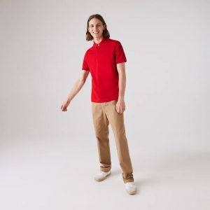 Lacoste Paris Polo regular fit Lacoste en piqué de coton stretch rouge