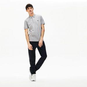 Lacoste Live Paris Polo regular fit Lacoste en piqué de coton stretch gris clair