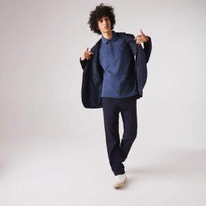 Lacoste Live Paris Polo regular fit Lacoste en piqué de coton stretch bleu chiné