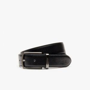 Lacoste Coffret cadeau ceinture réversible en cuir 2 boucles