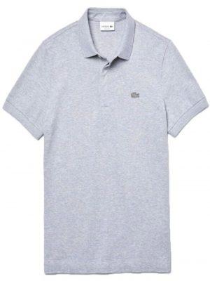 Lacoste Paris Polo regular fit Lacoste en piqué de coton stretch gris clair