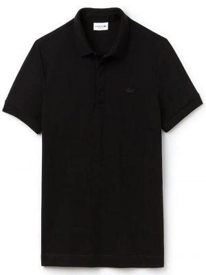 Lacoste Live Paris Polo regular fit Lacoste en piqué de coton stretch noir
