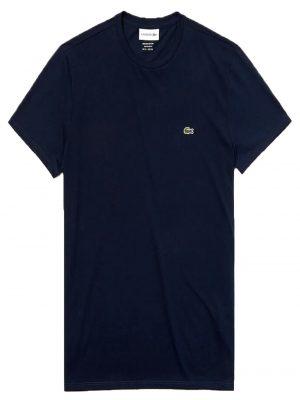 Lacoste Live T-shirt col rond en jersey de coton pima uni marine