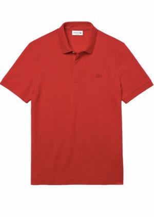 Lacoste Live Paris Polo regular fit Lacoste en piqué de coton stretch rouge