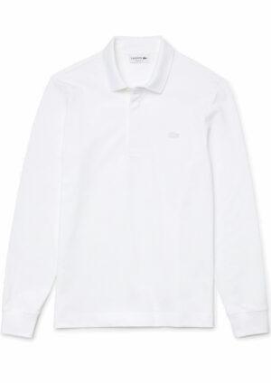 Lacoste Live Paris Polo Regular Fit Lacoste manches longues en coton stretch blanc