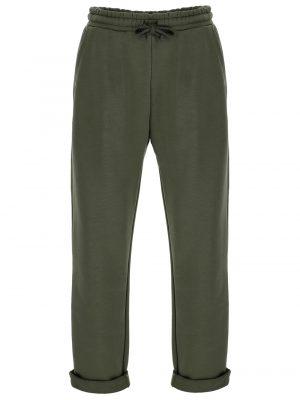 Imperial pantalon décontracté avec taille à cordon coulissant couleur kaki