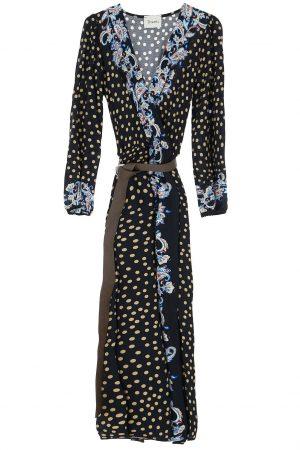 Braderie Robe à motifs variés et fermeture portefeuille