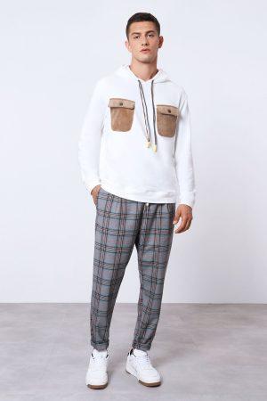 Imperial Men pantalon décontracté avec imprimé carreaux