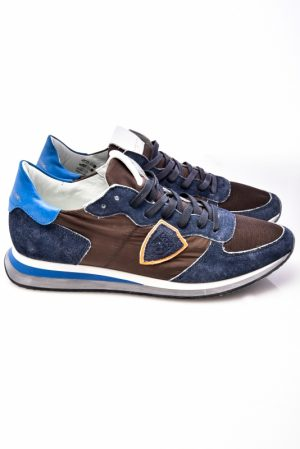 Baskets mondial low-top sneakers bleu/marron