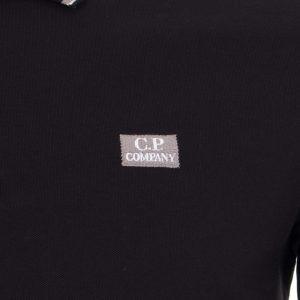 CP Company polo classique blanc noir