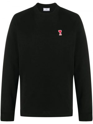AMI Paris sweat à patch logo noir