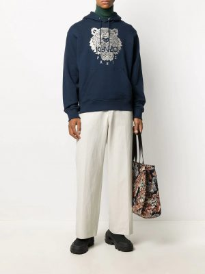 Kenzo hoodie à broderie Tigre