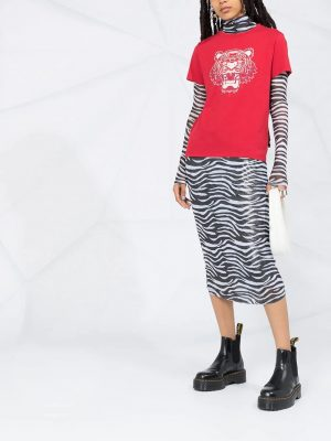 Hauts t-shirt à logo tigre rouge