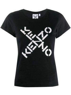 Hauts T-shirt à col rond à logo croisé
