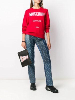 Moschino femme sweat à logo imprimé