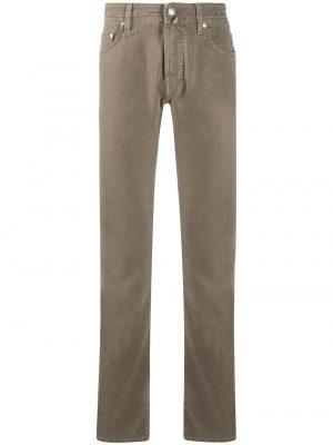 Braderie jean droit classique marron