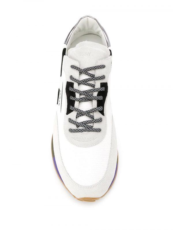 Baskets baskets à empiècements contrastants blanc