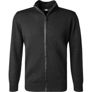 Lagarfeld Cardigan laine mérinos noir