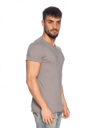 Imperial Men t-shirt col rond poche poitrine gris