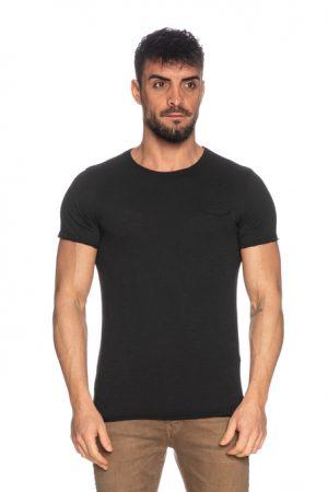 Imperial Men t-shirt col rond poche poitrine noir