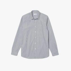 Chemises Chemise regular fit en popeline de coton rayée